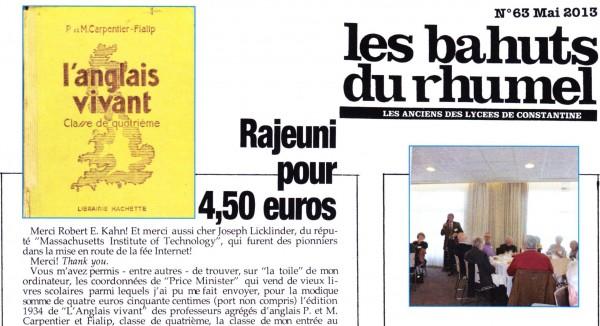 Uneàlaune-Bahuts n°63 mai 2013