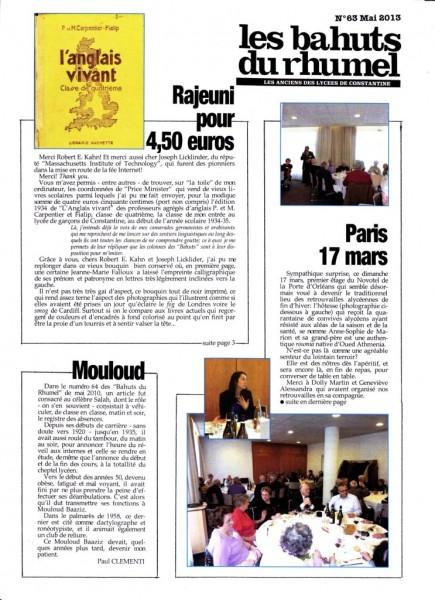 Accès au Sommaire et aupdf des Bahuts 63 mai 2013