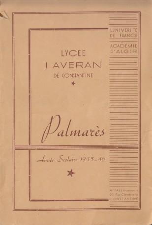 Accès à Laveran- Palmares 1946