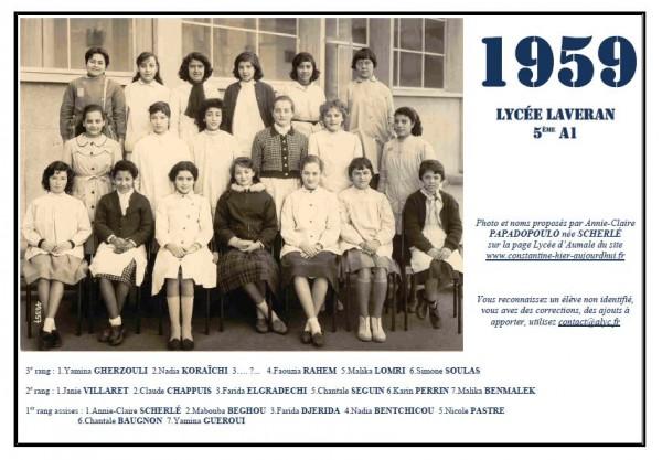 Laveran-1958-59-5eA1-Annie-Claire PAPADOPOULO née Scherlé2