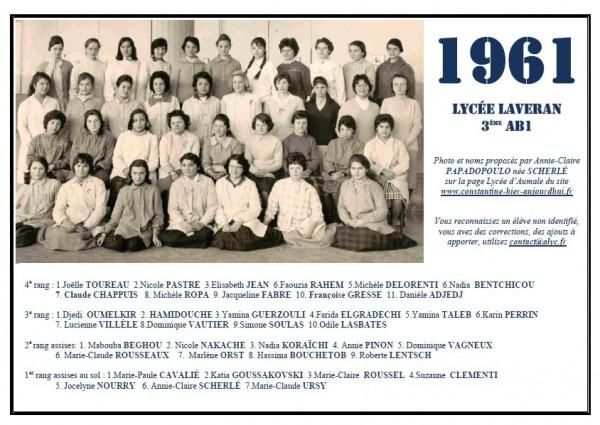 Laveran-1960-61-3eAB1-Annie-Claire PAPADOPOULO née Scherlé2