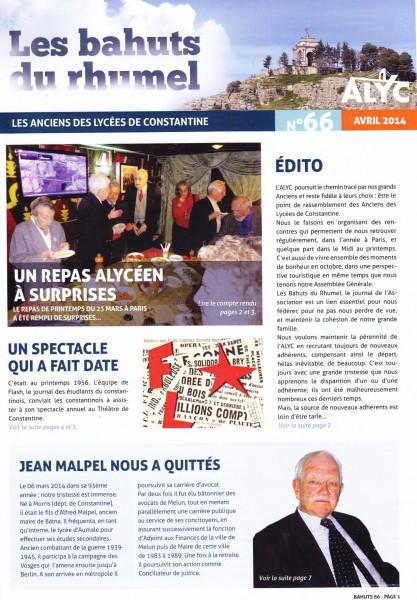 Une-Bahuts-n°66-janv 2014-M400-1