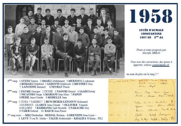 AUMALE-1957-1958-5èmeA4-ABBAS