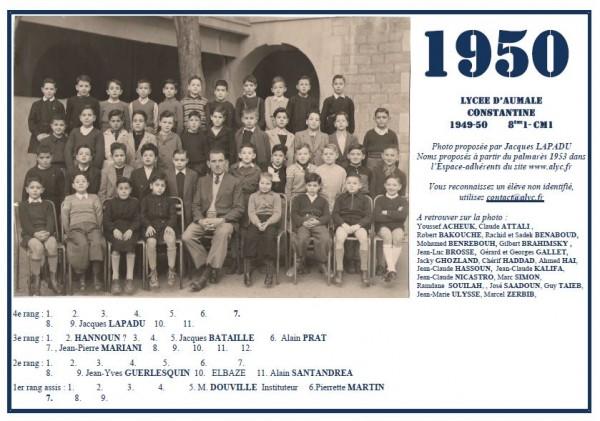 Aumale-1949-50-8ème1-CM1-JLapadu-PMartin-APrat