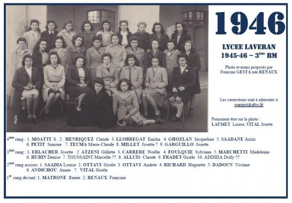 Laveran-1945-46-3eBM-Francine RENAUX
