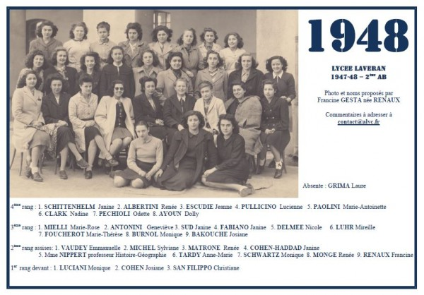 Laveran-1947-48-2eAB-Francine-Renaux