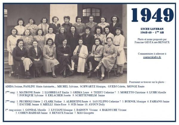 Laveran-1948-49-1èAB-Francine -Renaux