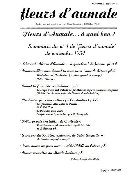 Capture-Sommaire-Fleurs d-Aumale-novembre-1954