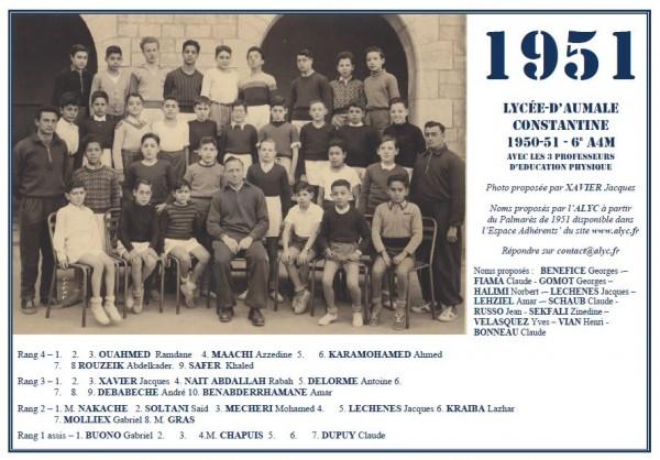 Une-Aumale-1950-51-6e A4-profs-de-gym-xavier-jacques