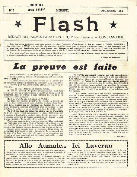 Une-Flash-n° 2-déc-1954-