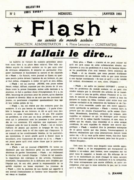 Une-Flash-n° 3-Janvier-1955-pilote-TN-100p