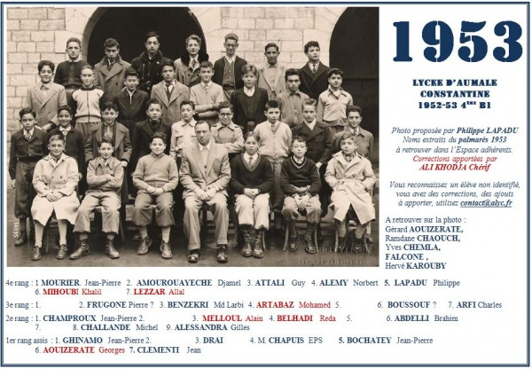 Une-Aumale-1953-4eB1-M-Chapuis-EP-PLapadu-MChallande-GAlessandra