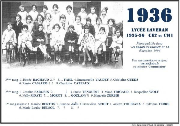 Une-Laveran-1935-36-CM1 ou CE2-Bahuts 13-