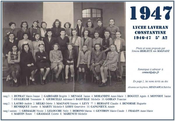 Une-Laveran-1946-47-5eA2-Simone-Magnani