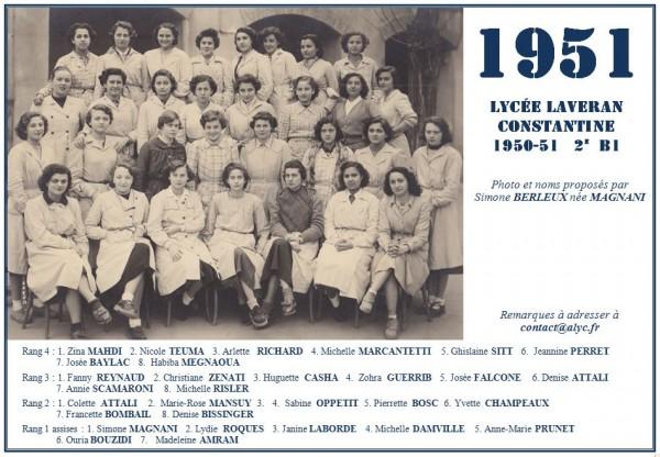 Une-Laveran-1950-51-2èmeB1-Simone-Magnani