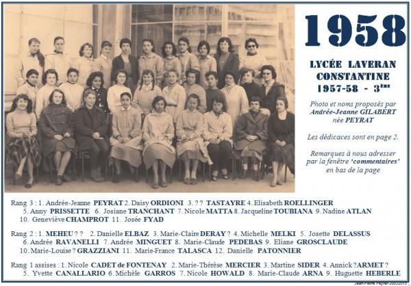 Une-Laveran-1957-58-3ème-AJG