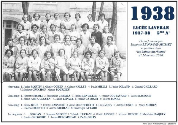 Une-Laveran-Bahuts n° 24-1938-5eA'