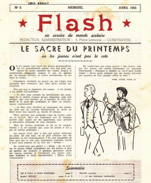 Une-Flash-n°6-Avril 1955