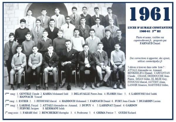 Capture-Aumale 1960-61 3ème B2 Daniel FARNAUD pour site