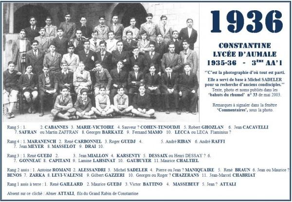 Une-A-1935-36-3eAA'1-Michel SADELER-Bahuts n° 33-mai-2003