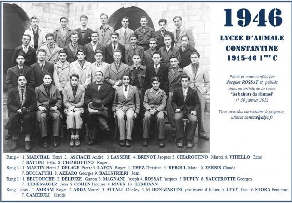 Une-A-1945-46-1eC-Jacques ROSSAT-Bahuts n° 59-Janv-2012