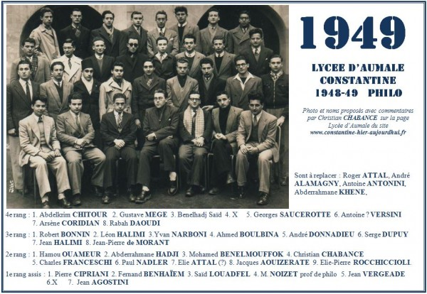 Une-A-1948-49-Philo-Christian CHEBANCE