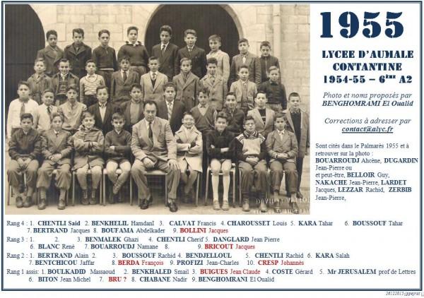 Une-A-1954-55-6eA2-BENGHOMRAMI Eloualid