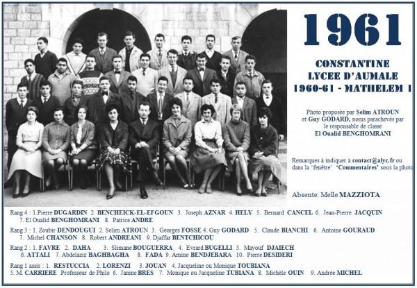 Une-A-1961-Math-Selim ATROUN