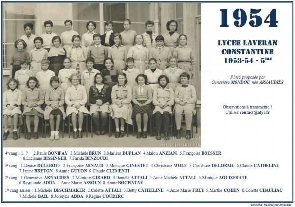 Une-L-1954-5e Mondou-Arnaudie