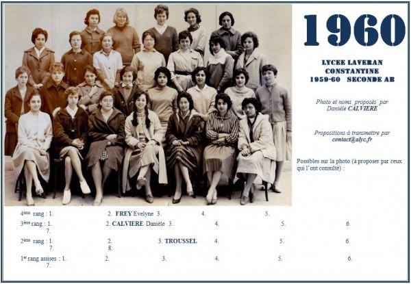 Une-Laveran-1959-60-2èmeAB-Daniele CALVIERE