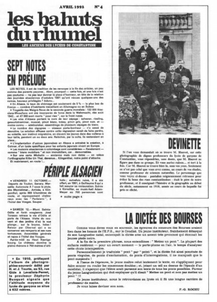 Une-Bahuts n° 4-avril 1992