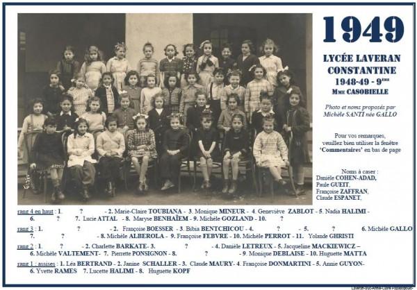 Une-L-1949-9e-MmeCASOBIELLE-M-Santi-Gallo