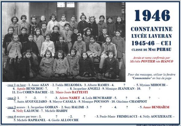 Une-L-1946-CE1-MmePEHAU