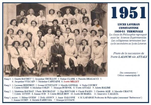Une-L-1951-Philo 2 avec ScExp-succession LALOUM