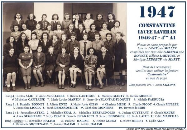 Une-L-1947-4eA1-Josette-MILLET