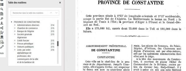 Icone-Table Matières Indicateur Commercial sur Province de Constantine