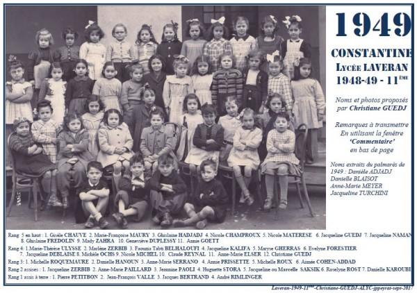 Une-L-1949-11e-MmeCARLI-Christ-GUEDJ-1
