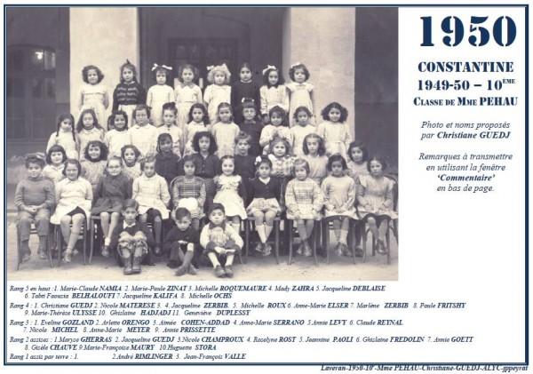 Une-L-1950-10e-MmePEHAU-Christ-GUEDJ