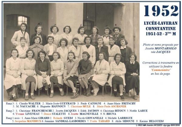 Une-L-1952-3eM-Josette Jacques--
