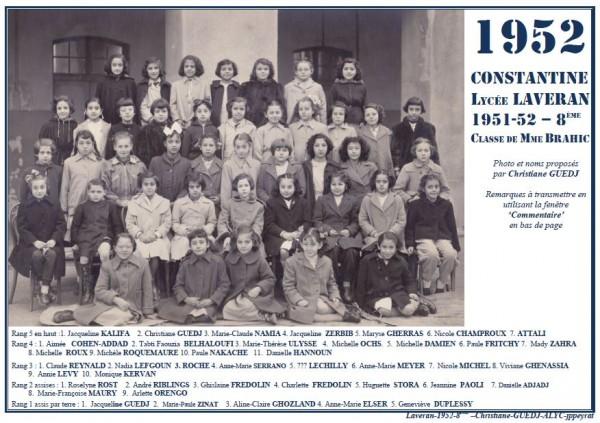 Une-L-1952-8e-MmeBRAHIC-Christ-GUEDJ--