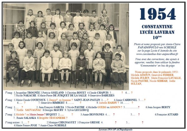 Une-L-1954-10e-Annie-Claire Papadopoulo2