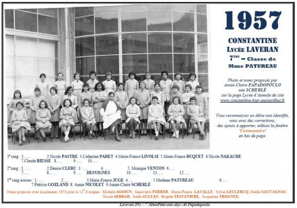 Une-L-1957-7e-Mme PATUREAU-Annie-Claire Papadopoulo2