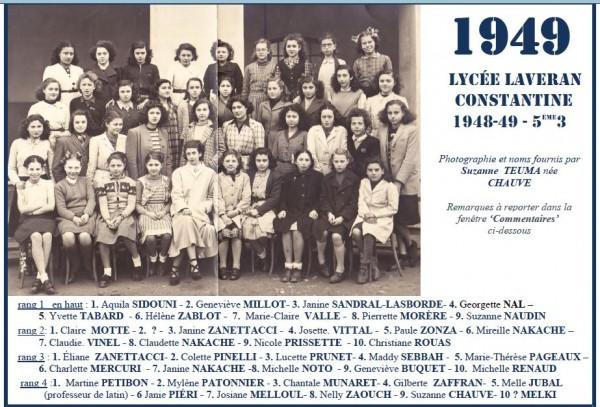 Une-Laveran-1948-49-5e3-Suzanne CHAUVE
