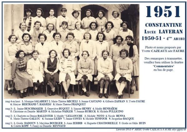 Une-Laveran-1950-51-4èAB1B2-Y-Cazeaux2