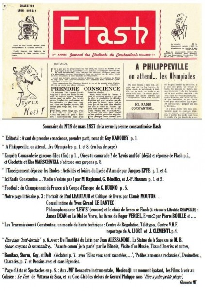 Sommaire-Flash-n°19-mars 1957