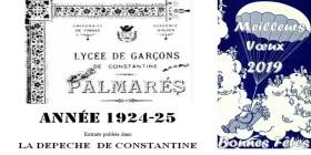 UneàlaUne-Palmarès-Lycée1925-Bonne Année 2019 2