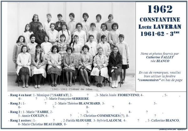 Une-Laveran-1961-62-3e-Catherine BIANCO-2