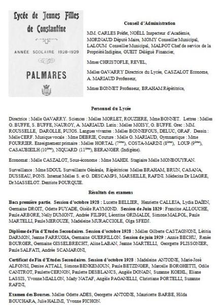 Une-Laveran-Palmarès-1929-AMP-noms alphabétique par niveau