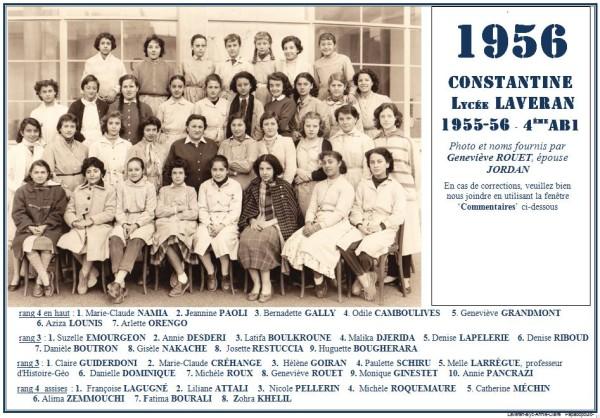 Une-L-1956-4eAB1-Geneviève-ROUET