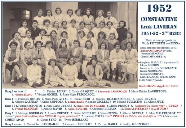 Une-Laveran-1952-B2B3-3e-Nicole-Benna-Ginette Blanc